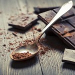 Closeup of Cocoa Powder on spoon