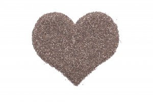Chia seeds in a heart shape